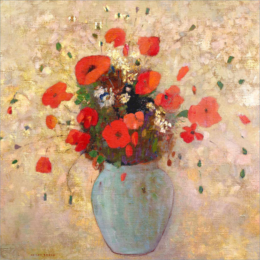 Póster Vase of poppies