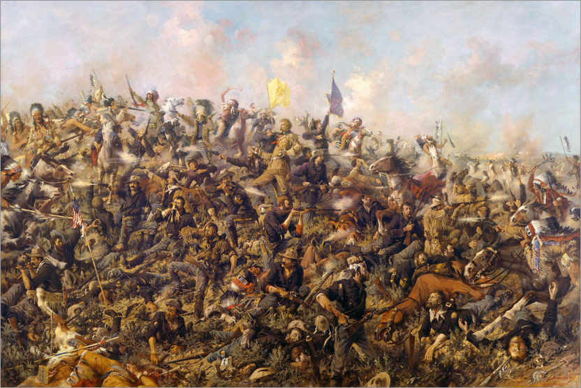 Póster Custer's Last Stand, 25th June 1876