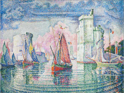 Póster  The Port at La Rochelle - Paul Signac