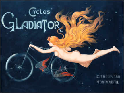 Póster  Cycles Gladiator - Georges Massias