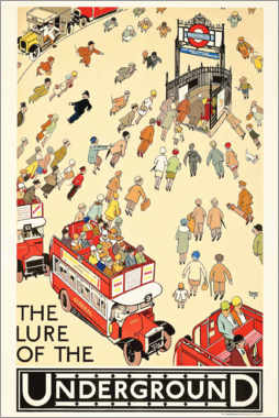 Lienzo  The Lure of the underground - Alfred Leete