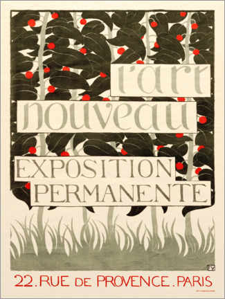Póster  Poster for L'Art Nouveau - Felix Edouard Vallotton