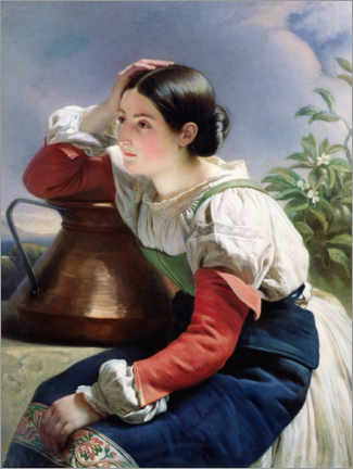 Cuadro de aluminio  Young Italian at the Well - Franz Xaver Winterhalter