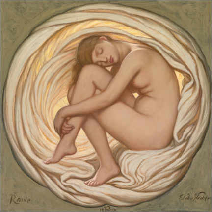 Cuadro de metacrilato  The Heart of the Rose - Elihu Vedder