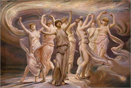 Póster  The Pleiades - Elihu Vedder