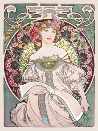 Póster  Reverie - Alfons Mucha