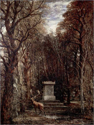 Lienzo  The Cenotaph to Reynold's Memory - John Constable