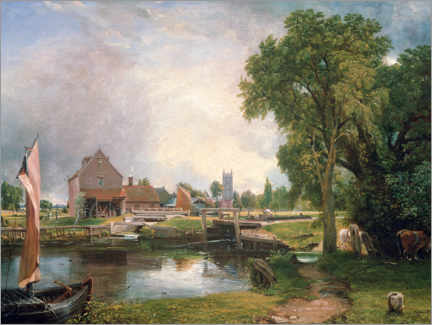 Cuadro de metacrilato  Dedham Lock and Mill - John Constable