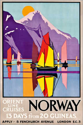 Lienzo  Orient Line Cruises Norway - M.V. Jones