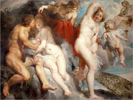 Cuadro de aluminio  Ixion, deceived by Juno - Peter Paul Rubens