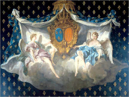 Cuadro de metacrilato  Allegory of the arms of France and Navarre - François Boucher