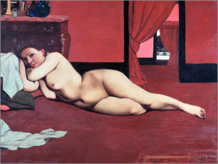 Cuadro de aluminio  Nude in Red Salon - Felix Edouard Vallotton