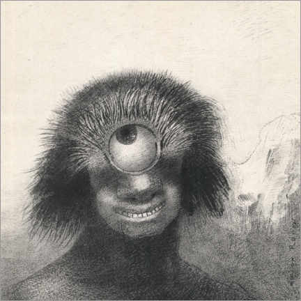 Lienzo  Cíclopes sonrientes y abominables - Odilon Redon