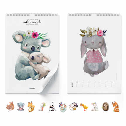 Calendario de pared Cute Animals 2021