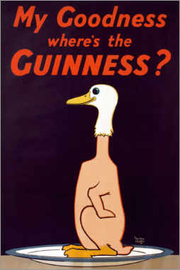 Cuadro de metacrilato  My goodness, where's the Guinness? - Alfred Leete