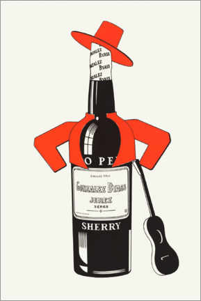 Lienzo  Tio Pepe, sherry - Advertising Collection