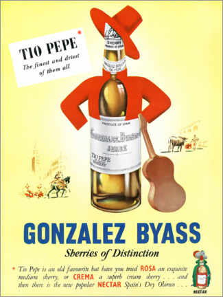 Lienzo  Gonzalez Byass, Tio Pepe - Advertising Collection