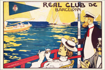 Lienzo  Real Club de Barcelona, Cartel antiguo - Joan Llaverias