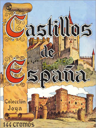 Cuadro de metacrilato  Castillos de España, Cartel antiguo - Advertising Collection