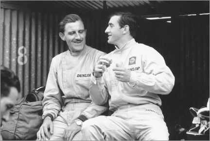 Póster Graham Hill and Jackie Stewart, French GP, 1965