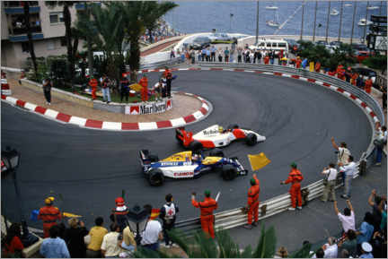 Lienzo  Salute for Ayrton Senna and Nigel Mansell on the slowing down lap, 1992