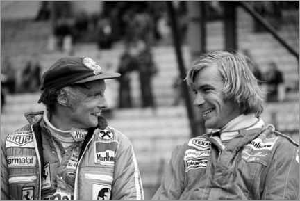 Póster  Niki Lauda and James Hunt, Formula 1 GP, Belgium 1977