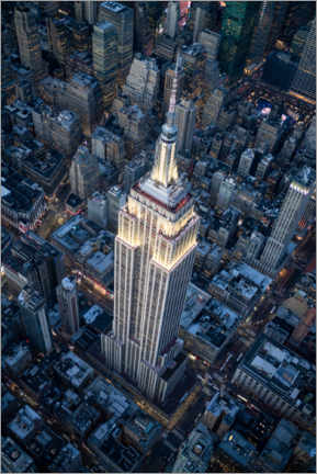Póster  Vista aérea del Empire State Building - Jan Christopher Becke