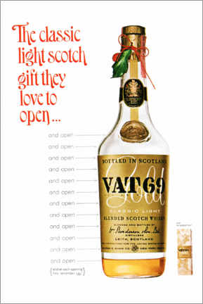 Póster  Vat 69 - Advertising Collection