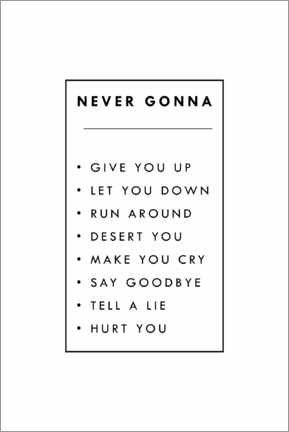 Póster Never gonna give you up