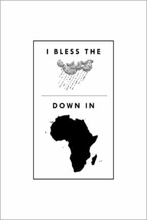Lienzo  I bless the rains down in africa - Typobox
