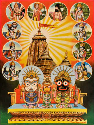Vinilo para la pared  El templo de jagannath - Indian School