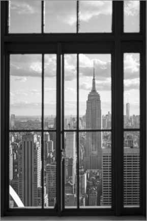 Póster  Edificio Empire State en la ciudad de Nueva York - Jan Christopher Becke