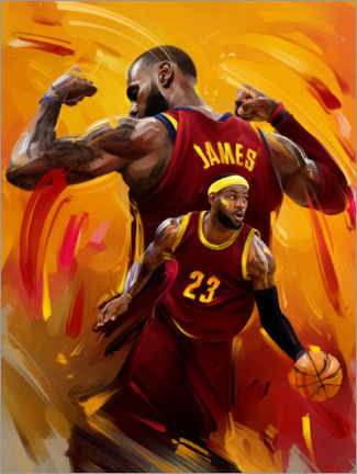 Lienzo  Lebron James - Dmitry Belov