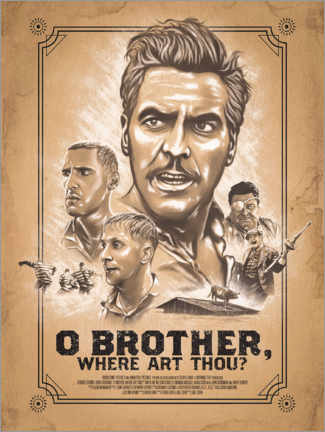 Cuadro de madera  O Brother, Where Art Thou - The Usher designs