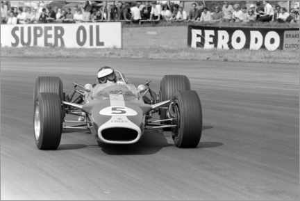 Póster  Jim Clark, Lotus 49 Ford, Silverstone UK, 1967