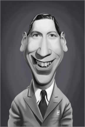 Póster  George Formby - Rob Snow | caricatures