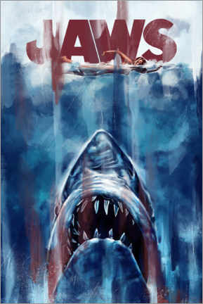 Póster  Jaws - Dmitry Belov