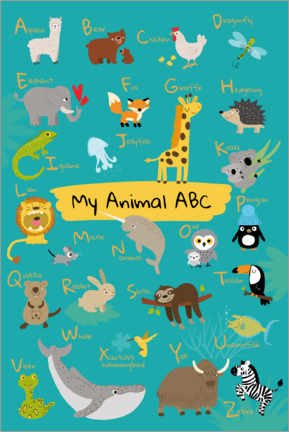 Lienzo  Mi animal abc I - Julia Reyelt