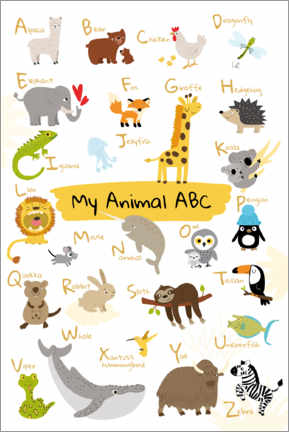 Vinilo para la pared  My animal ABC II (inglés) - Julia Reyelt