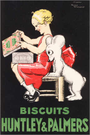 Póster Biscuits Huntley & Palmers