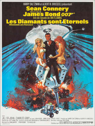 Póster Diamonds Are Forever (francés)