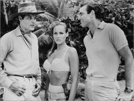 Póster Jack Lord, Ursula Andres and Sean Connery en Dr. No
