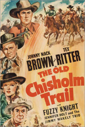 Póster  The Old Chisholm Trail - Entertainment Collection