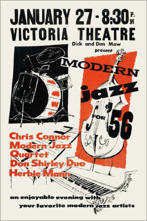 Póster  Modern Jazz - Advertising Collection
