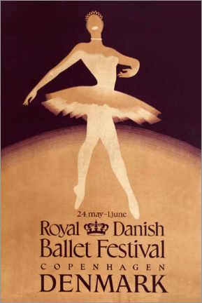 Póster  Royal Danish Ballet Festival - Travel Collection