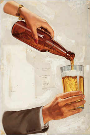 Lienzo  Una buena cerveza fría - Advertising Collection