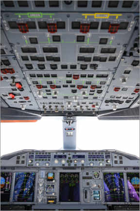 Póster Airbus A380 Cockpit I
