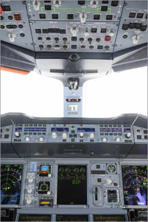 Póster Airbus A380 Cockpit III