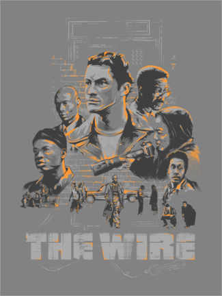 Cuadro de madera  The Wire - The Usher designs