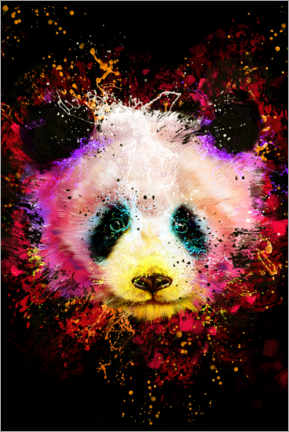 Póster  Panda colorido - Dmitry Belov